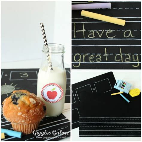 Diy Chalkboard Placemats Back To School Hop With 10