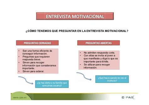 preguntas para una entrevista motivacional la entrevista motivacional