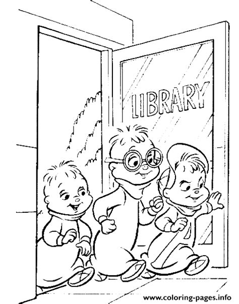 the archives coloring book books go to library alvin and the chipmunks coloring pages printable