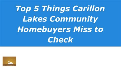 5 Things To Check Out 2 by Top 5 Things Carillon Lakes Community Homebuyers Miss To Check