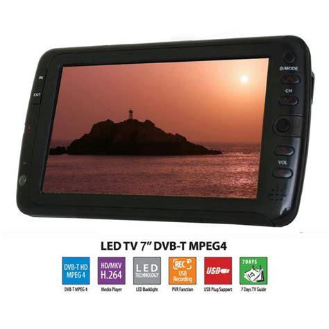 7 inch portable led tv television dvb t mpeg4 pvr black free shipping dealextreme