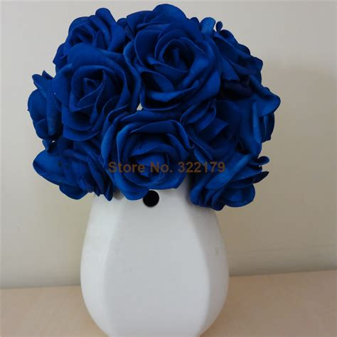 Home Decor Stores In Dallas by Aliexpress Com Buy 100x Artificial Flowers Royal Blue