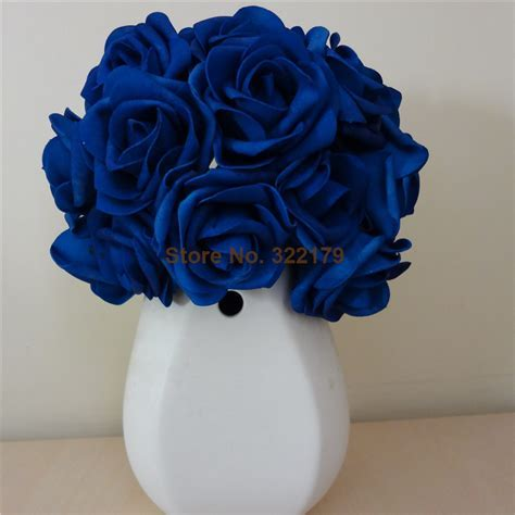 Aliexpress.com : Buy 100X Artificial Flowers Royal Blue Roses For Bridal Bouquet Wedding Bouquet