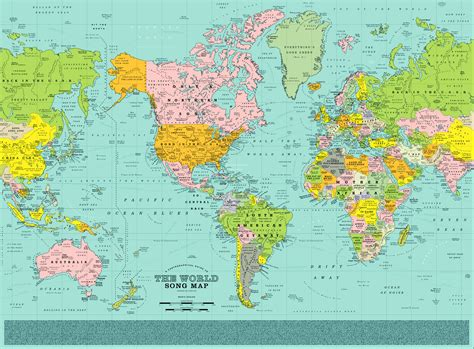 wold map this world map pin points 1 200 songs right where they should be geoawesomeness