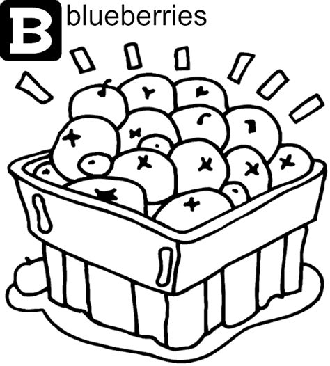 blueberry coloring pages to print pictures to pin on