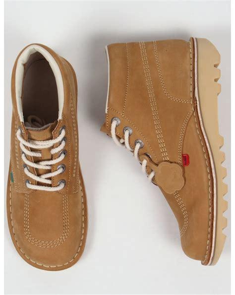 Kickers Nubuck Leather kickers kick hi boots in nubuck shoe chunky mens