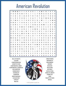 American Also Search For American Revolution Word Search Puzzle Word Search