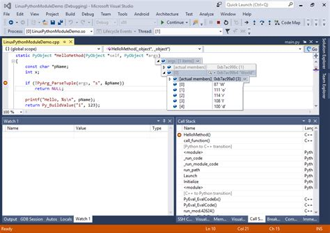 tutorial python en linux developing linux c python modules with visual studio