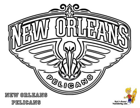 new orleans pelicans colors new orleans pelicans logo coloring pages sketch coloring page