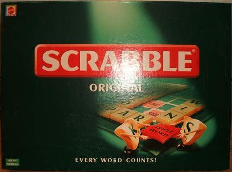original scrabble mattel original scrabble 1999
