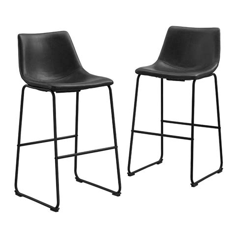 bar stool companies walker edison furniture company wasatch 25 in black bar