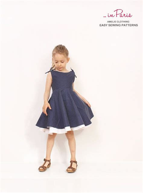 dress pattern for 8 year old adria circle dress pattern girls dress sewing patterns