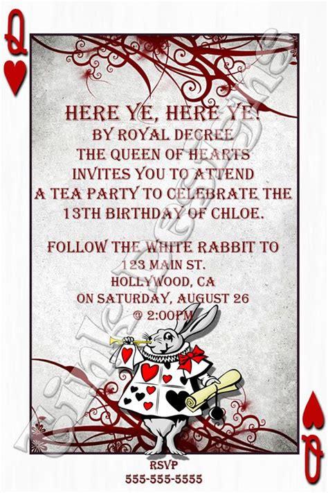 alice in wonderland invitation template 6 alice in
