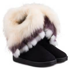 Faux Fur Cold Weather Boots In Black Sammydress Com