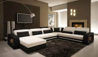 Contemporary Sectional Sofas Alina Contemporary Black And White Leather Sectional Sofa