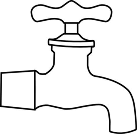 tap coloring pages water faucet clip art at clker com vector clip art