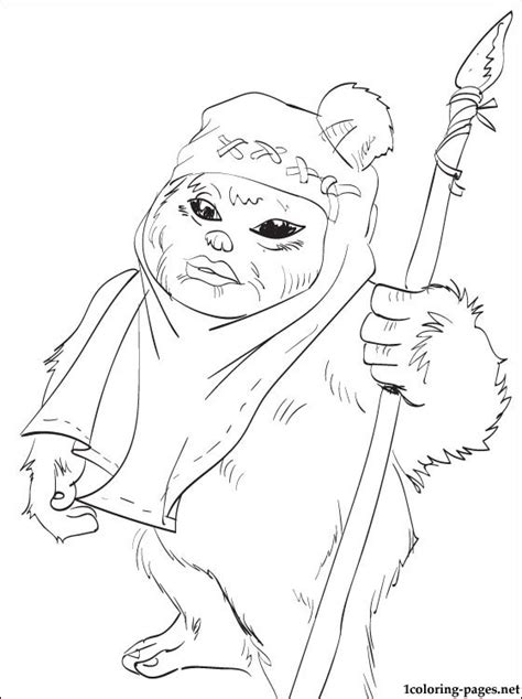 Ewok Coloring Page For Those Who Love Star Wars Film Coloring Pages For Boys Wars Free