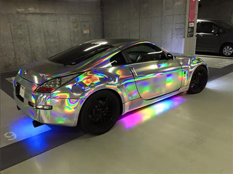 holographic car 2018 sale 1 4x25m air drain holographic rainbow