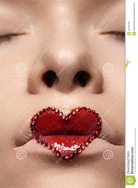 B5 Styles Beautiful Valentines by Closeup With Make Up Rhinestones