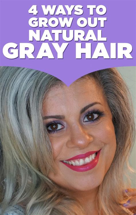 ways to wear your hair growing out a pixie here are 4 ways to grow out natural gray hair if you re