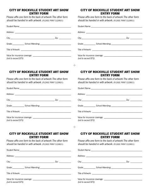 contest registration form template 6 best images of drawing entry forms printable blank