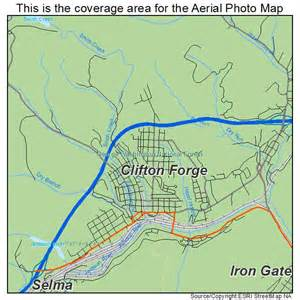 aerial photography map of clifton forge va virginia
