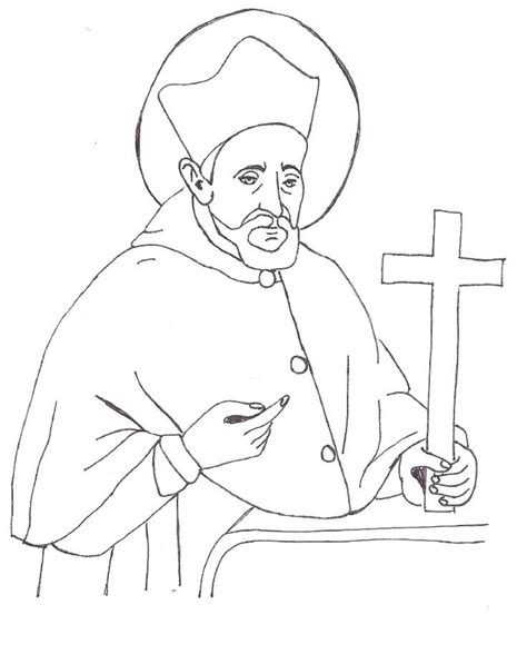 catholic coloring pages of saints freecoloring4u com