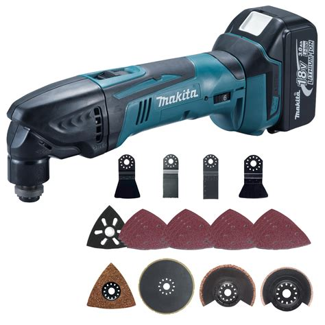 multi tool kit makita btm50rfx3 18v li ion oscillating multi tool kit 1
