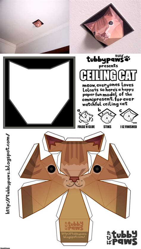 Awesome Papercraft - awesome papercraft ceiling cat spirits
