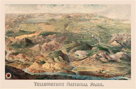 yellowstone national park map usa vintage posters show america s beautiful places shareamerica