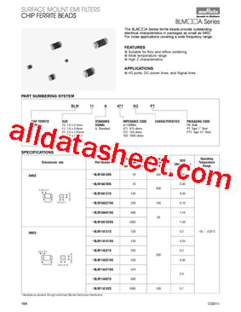 transistor a102 pdf blm21a102s datasheet pdf murata manufacturing co ltd