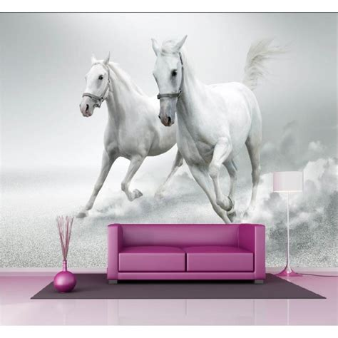 Tapisserie Cheval by Papier Peint G 233 Ant D 233 Co Chevaux Blanc 250x360cm D 233 Co