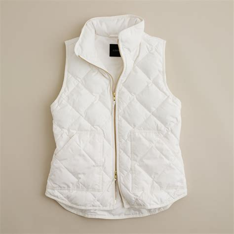 Quilted Vest by J Crew Excursion Quilted Vest In White Lyst