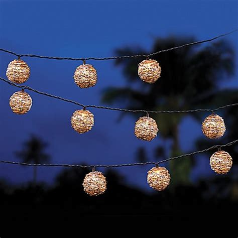White Wash Rattan String Lights Bed Bath Beyond Rattan String Lights