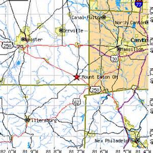 Eaton Ohio Map by Mount Eaton Ohio Oh Population Data Races Housing