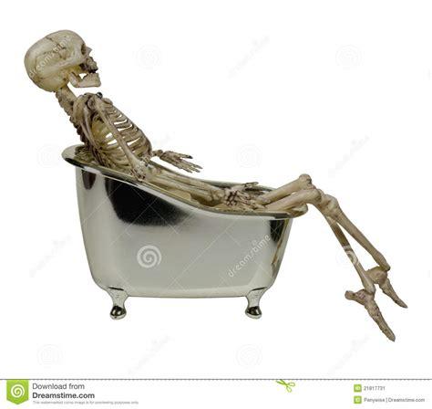 in a bathtub skeleton in a bathtub stock image image 21817731