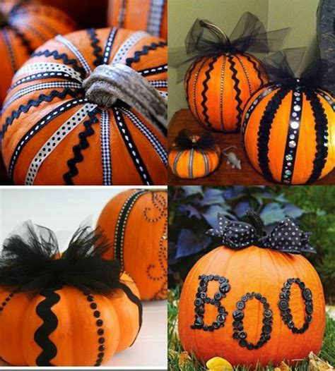 Decorating Ideas For Pumpkins Without Carving Pumpkin Schnitzvorlagen 20 Thematic Decoration