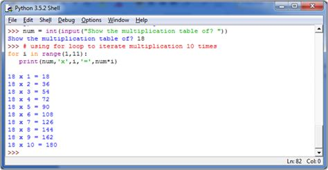 print 5 multiplication table using for loop python display the multiplication table javatpoint