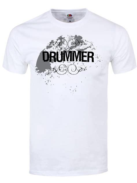 Tshirt Drumer White drummer t shirt mens white buy at grindstore