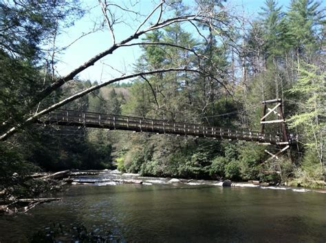 blue ridge swinging bridge swinging bridge over the toccoa river favorite places