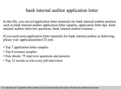 Bank Letter Audit Bank Auditor Application Letter