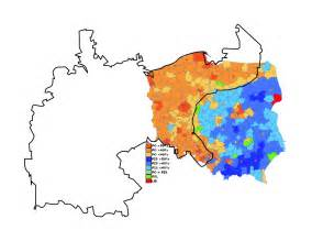 German Election Map by Poland S Stark Electoral Divide Geocurrents