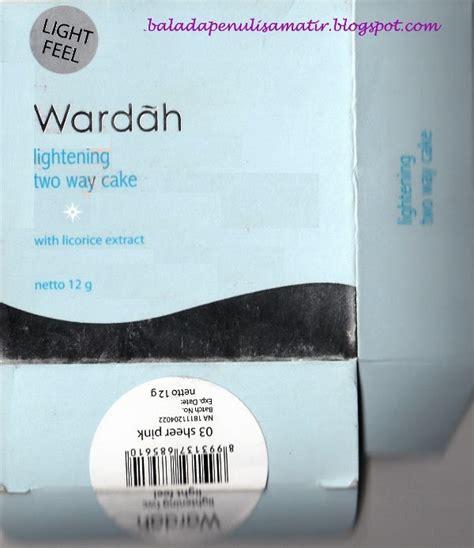 Wardah Lightening Twc Ref 01 talks wardah lightening two way cake light feel