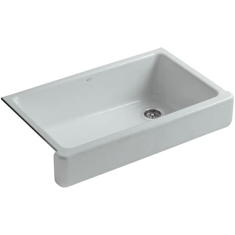 kohler whitehaven undermount farmhouse apron front