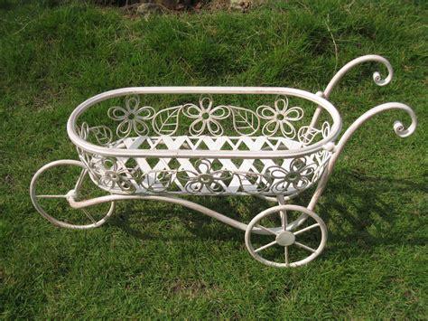 Ornamental Wheelbarrow Planters by Bentley Garden Wrought Iron Decorative Wheelbarrow Planter