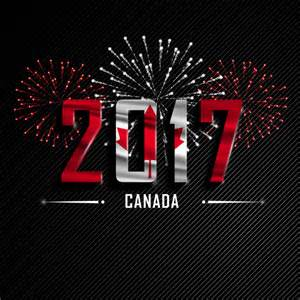 2017 new year canada vector background vector background