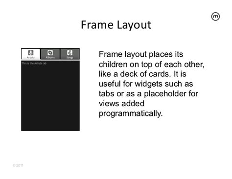 android layout placeholder android for java developers