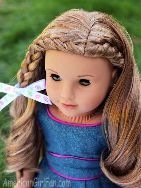 hairstyles for american girl doll videos braided doll hairstyle for easter http www