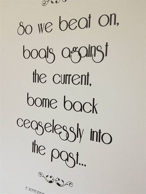 boat quotes great gatsby the great gatsby quote print by literary emporium