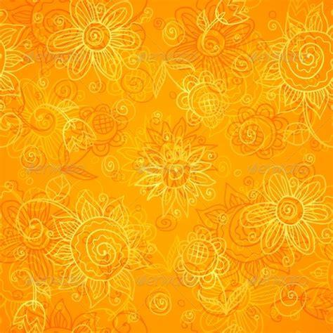 orange pattern vector orange floral bright vector seamless pattern by art of sun